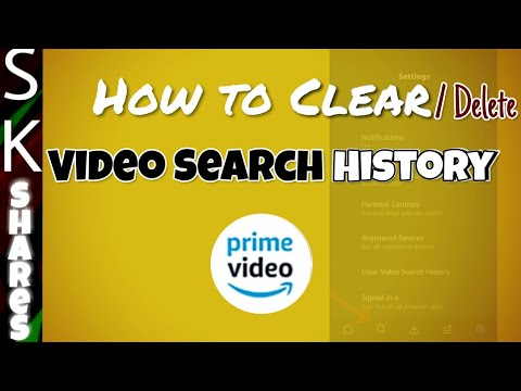 How To Clear Video Search History On Amazon Prime Android Mobile App