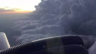 Houston Thunderstorms from a Golden Eagle 421