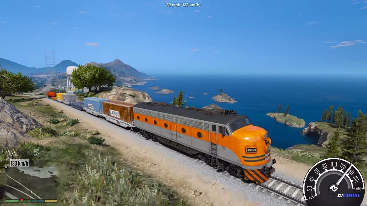 GTA 5 – Công việc lái tàu lửa vận chuyển hàng hóa trong thành phố   ND Gaming