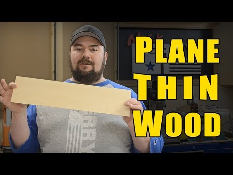 How To Plane Thin Wood Veneer Making Ep84 Youtube