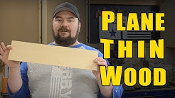 Ⓕ How To Plane Thin Wood - Veneer Making (ep84)