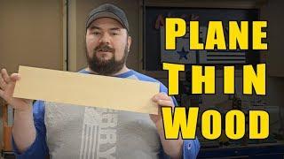 Ⓕ How To Plane Thin Wood - Veneer Making (ep84)