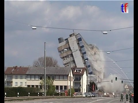 EXPLOSIV DEMOLITION - HIGHRISE OFFICE / Sprengung NEOPLAN Hochhaus Stuttgart, 2008
