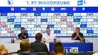 Pressekonferenz 1. FC Magdeburg gegen FC St. Pauli 1:2 (1:1)