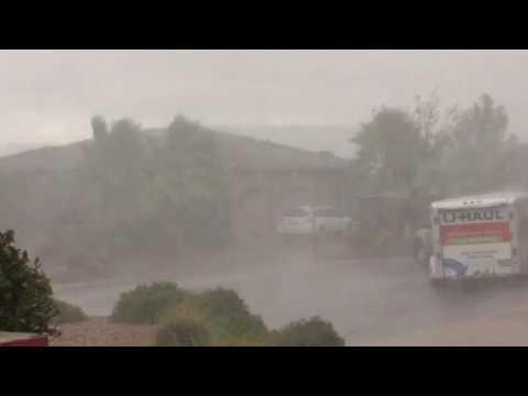 Rain in St George Utah