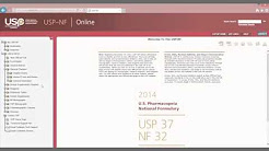 USP NF Online Tutorial Video S