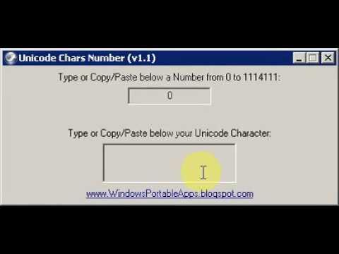 Unicode Chars Number (v1.1)