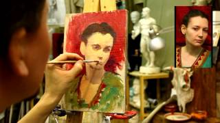 Пример этюда - Обучение живописи. Масло. Портрет, 1 серия