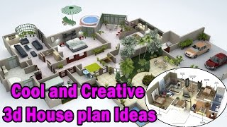 Cool and Creative 3d House plan Ideas