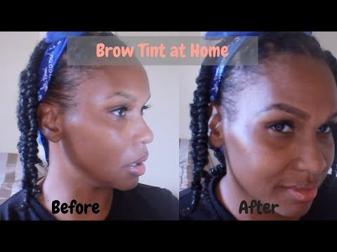 Make Thin Brows Thicker.  Brow Tinting at home/Chit Chat Life Update