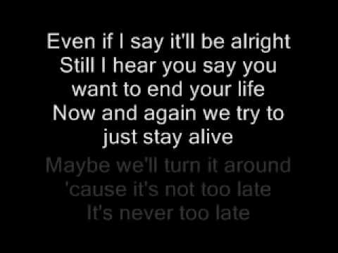 Anberlin – A Day Late Lyrics | Genius Lyrics
