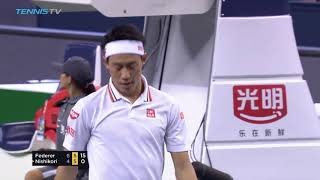 Hot Shot: Federer Hits 'Can-You-Believe-That?' Backhand Shanghai 2018