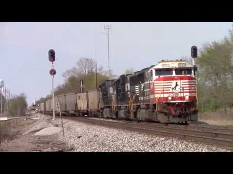 NS Empty Coal Trains On The Ex Wabash Brooklyn District In Illinois Feat NS 911
