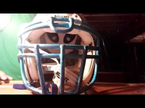 How to put on pads football shoulder pads/helmet