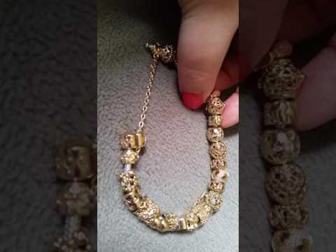 Gold and two tone Pandora bracelets