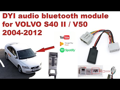 Volvo audio bluetooth module for radio S40 II / V50 HOW TO Install AUX DIY 2004-2012