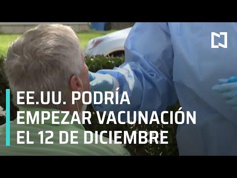 Covid-19: Estados Unidos podría comenzar vacunación el 12 de diciembre - Las Noticias