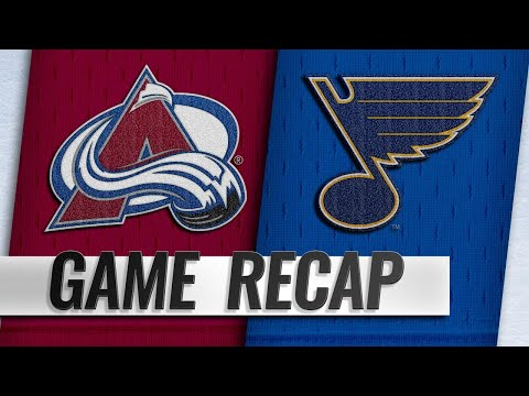 Blues top Avalanche on O'Reilly's SHG in OT