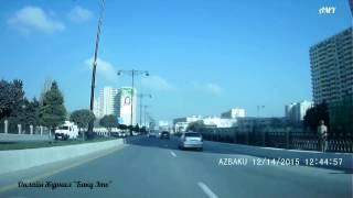 14.12.15. Баку. Автопробег, Чемберекенд - 8 км.(Спасибо за просмотр. Жмите на
