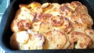 Картошка в духовке с мясом. Рецепт