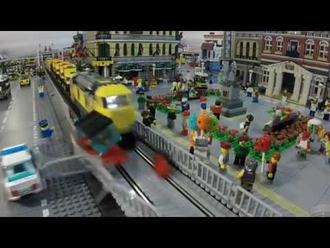 Thumbnail: LEGO Train Crashes in Slow Motion