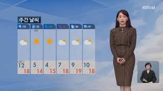강아랑 기상캐스터 201020 KBS 9시 뉴스