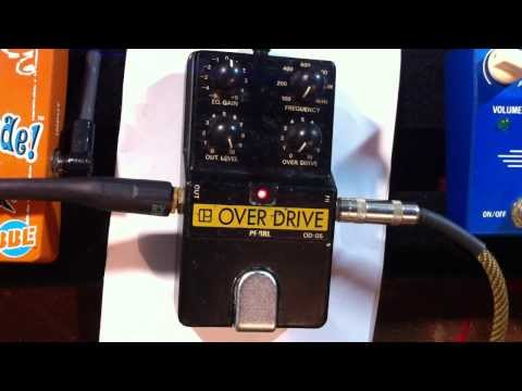 Pearl OD-05 Overdrive pedal - Into a dirty amp