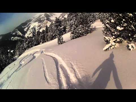 Backcountry snowboarding @ Canillo, Andorra.