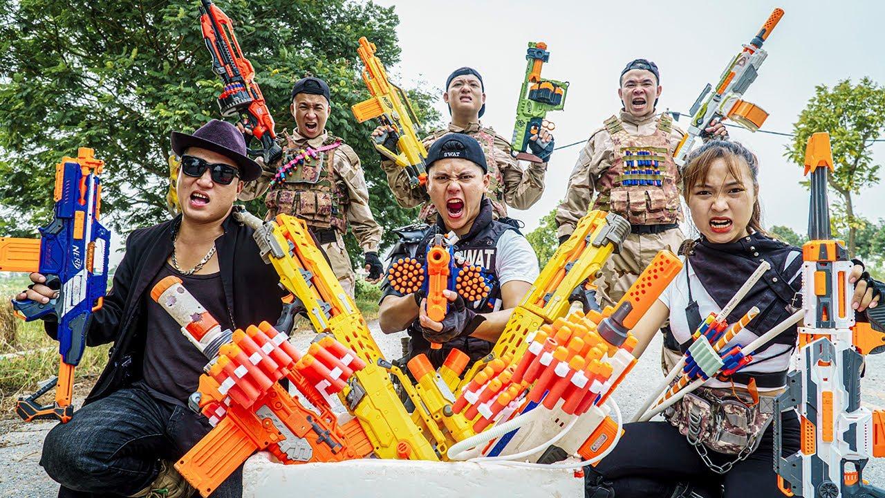 LTT Nerf War : Marines SEAL X Warriors Nerf Guns Fight Crime Group Dr.Lee Crazy Intrusion