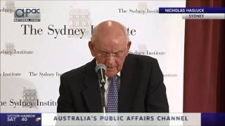 """Nicholas Hasluck at The Sydney Institute - """"Reopening the Whitlam File"""""""