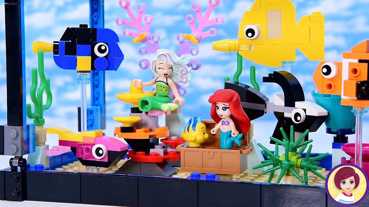 Lego fish tank (with added mermaids) build & review