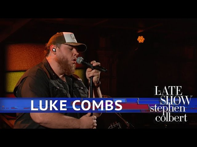 81c0ea93a6a098 Luke Combs Performs  One Number Away  on  Late Show   Watch Billboard