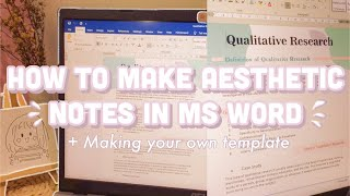DIGITAL NOTE TAKING USING MS WORD I How to take aesthetic notes using Microsoft word screenshot 4