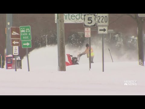 Much Of U.S. Slammed By Snow And Cold In Deadly Winter Storm | NBC Nightly News