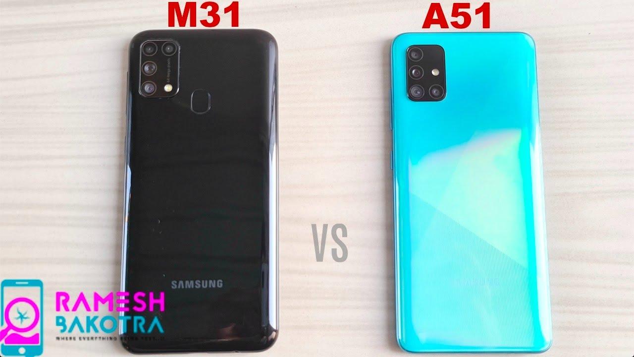 Samsung Galaxy M31 vs A51 SpeedTest and Camera Comparison