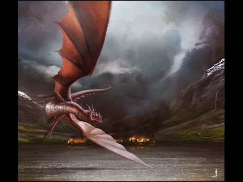 The Hobbit The Battle of Five Armies Smaug Attack Lake town