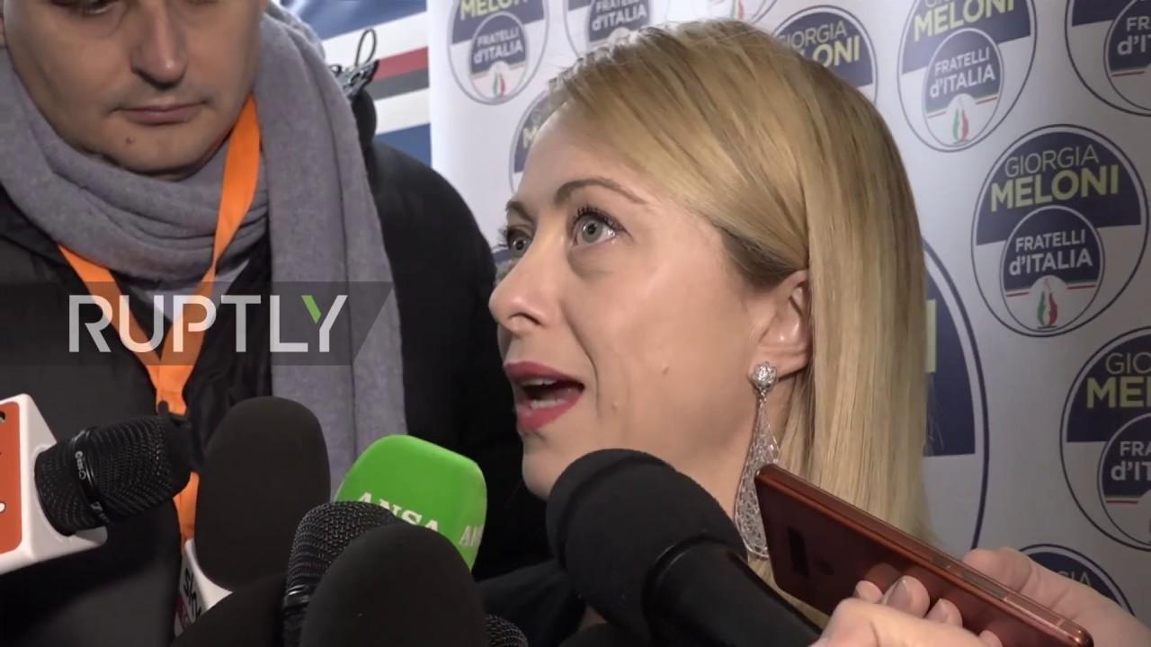 Italy I Won T Betray Claims Giorgia Meloni At First