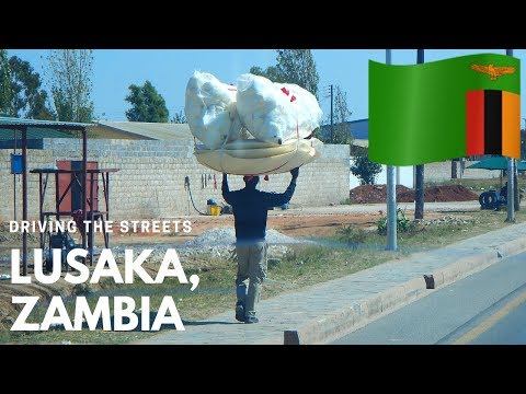 Driving the streets in Lusaka, Zambia