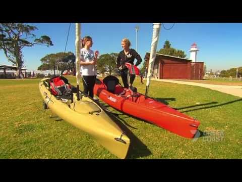 Hobie kayak sail to Peel Island