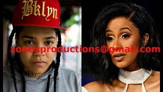 """Young MA Beefin wit Cardi B kicks her Out of blood gang in NY""""change ur set"""""""