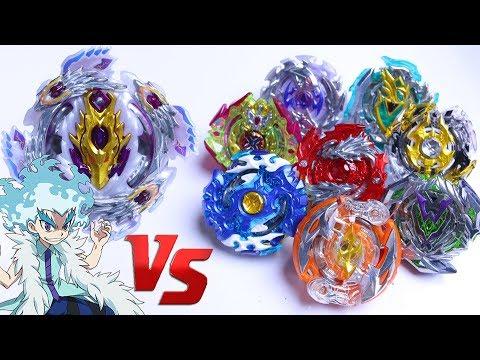 BLOODY LONGINUS vs ALL RBV10 | Beyblade Burst Super Z Chouzetsu ベイブレードバースト 超ゼツ