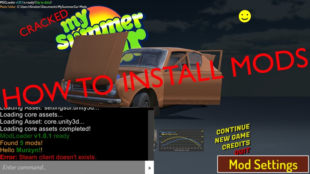 How To Install Mods To Cracked My Summer Car Update Video