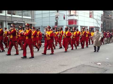 Cardinal Hayes High School Band At NYC St. Patricks Day Parade