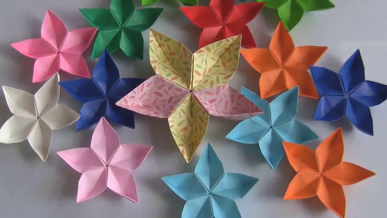 Seni Melipat Kertas Origami Membentuk Bunga Melati Youtube