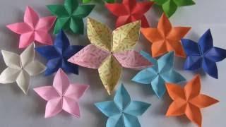 Seni Melipat kertas Origami membentuk Bunga Melati