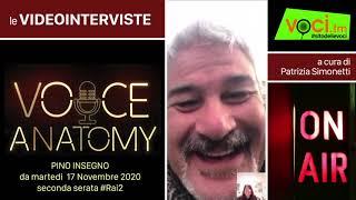 """Voci.fm intervista pino insegno che da martedì 7 novembre sbarca in tv con """"voice anatomy. a cura di patrizia simonetti.https://www.voci.fm/high-level/item/7..."""