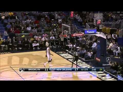 Markel Brown STEAL AND 360 DUNK!  Nets vs Pelicans |  February 25, 2015 | NBAP