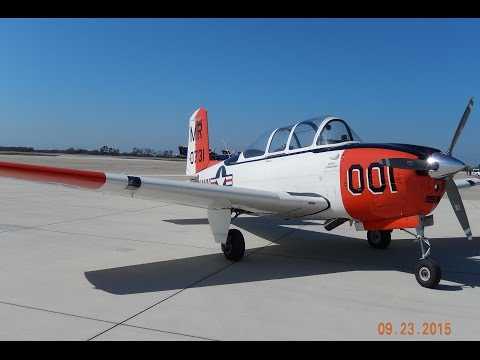 GoPro Landing at Point Mugu Naval Base in Beechcraft T-34 Mentor, for the 2015 Air Show