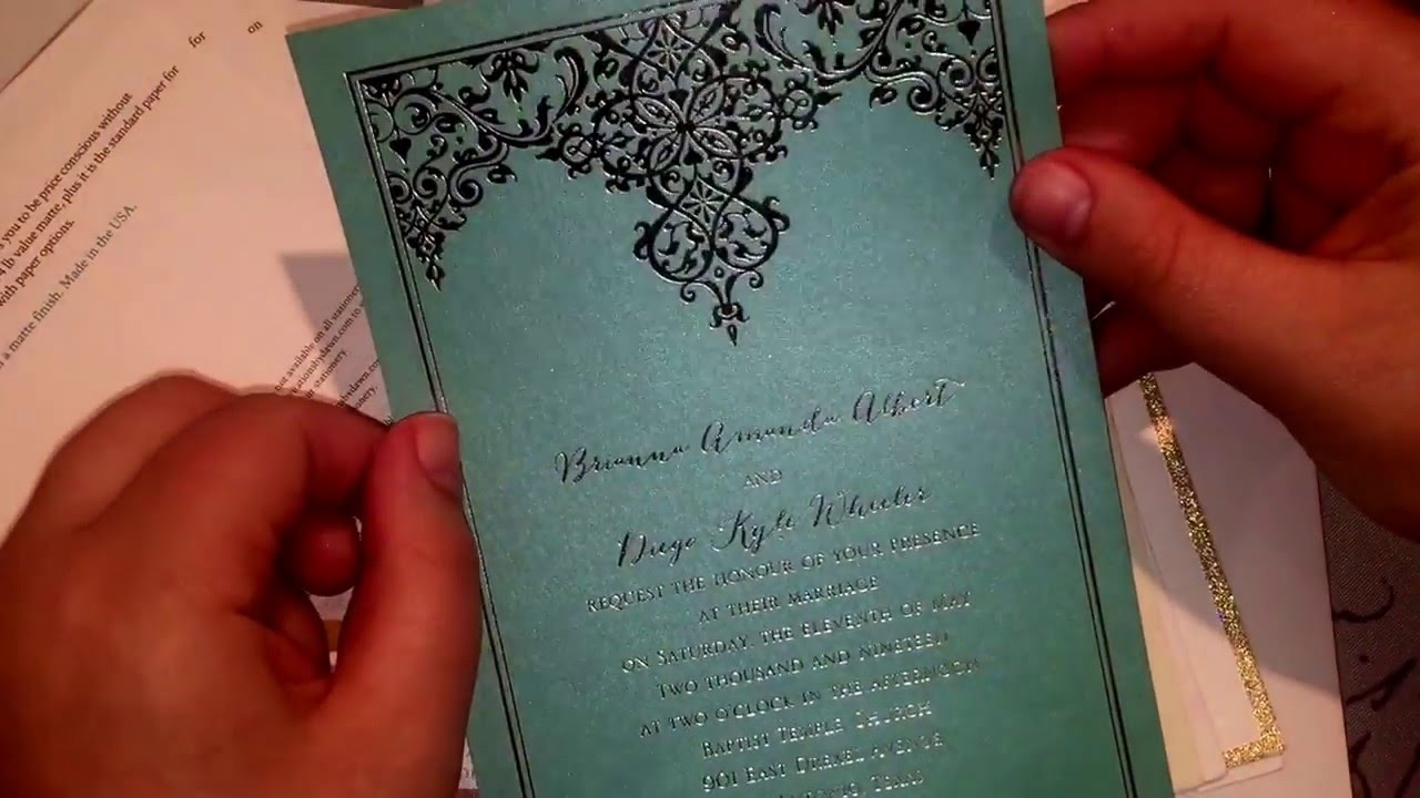 Types of Wedding Invitations - YouTube