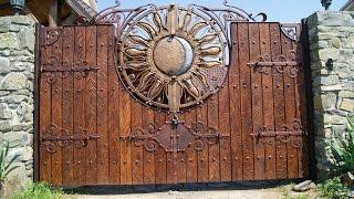 Кованые ворота - Неординарные Ворота(http://simulator.org.ua Кованые ворота Необходимым дополнением кованых ограждений являются кованые ворота. Ворота..., 2014-09-29T06:48:56.000Z)